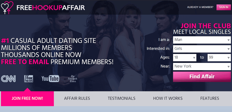 FreeHookupAffair review