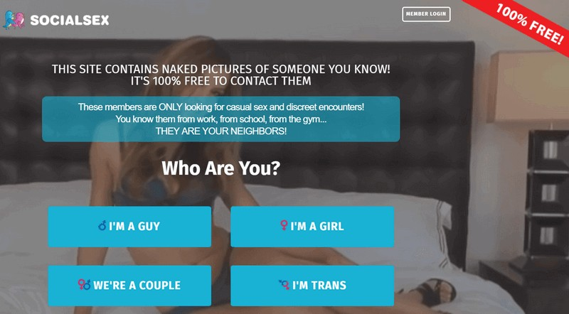 socialsex - signup page