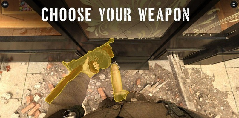 cock of duty choosing weapons